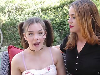 Kimber Woods and Miss Raquel are interested close by a man's hard prick