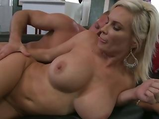 Insatiable guy gets there shag platinum-blonde milf on the sofa free sex