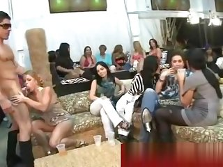 Cfnm hot and horny cock sucking party