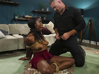 Sexy ebony Daya Manly shows her fucking capacity to her white friend