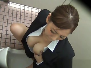 Asians rub their pussies on overhear cam in public washrooms
