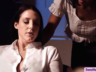 Busty Writer Angela White licks Jenna Foxx close to end b disengage a bit