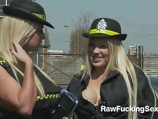 Hot Parking Officers Cindy Behr And Chelsea Sax Violates A Serendipitous Guy