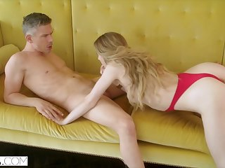 HELLCAT Steamy Mistress Loves Teasing her Man in Front of his Wife