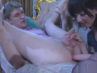 Fit together Fucks husband with a strapon