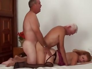 Full-grown Bi Team of two Threesome