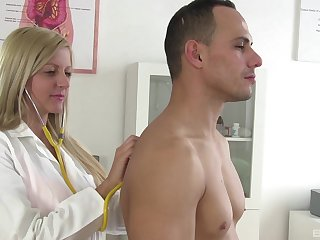 Wild fucking in the doctors office with astounding blonde Summer