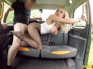 Wonderful back seat anal doggy with a premium bird