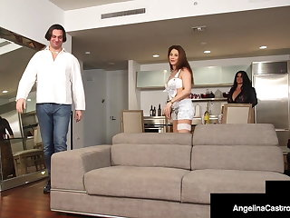 Curvy Babes Angelina Castro & Roberta Gemma Apportionment Abiding Cock!
