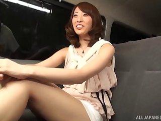Lock unskilled video of a Japanese slut having sex in hammer away van