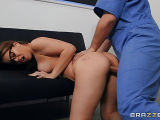 Full hardcore for the young babe after she throats the detect